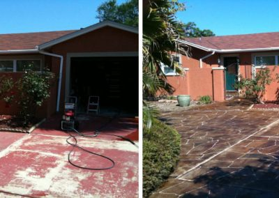 Concrete Refinishing Before & After Hernando