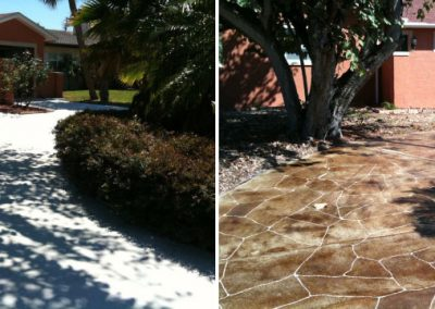 Concrete Refinishing Before & After Tampa Bay