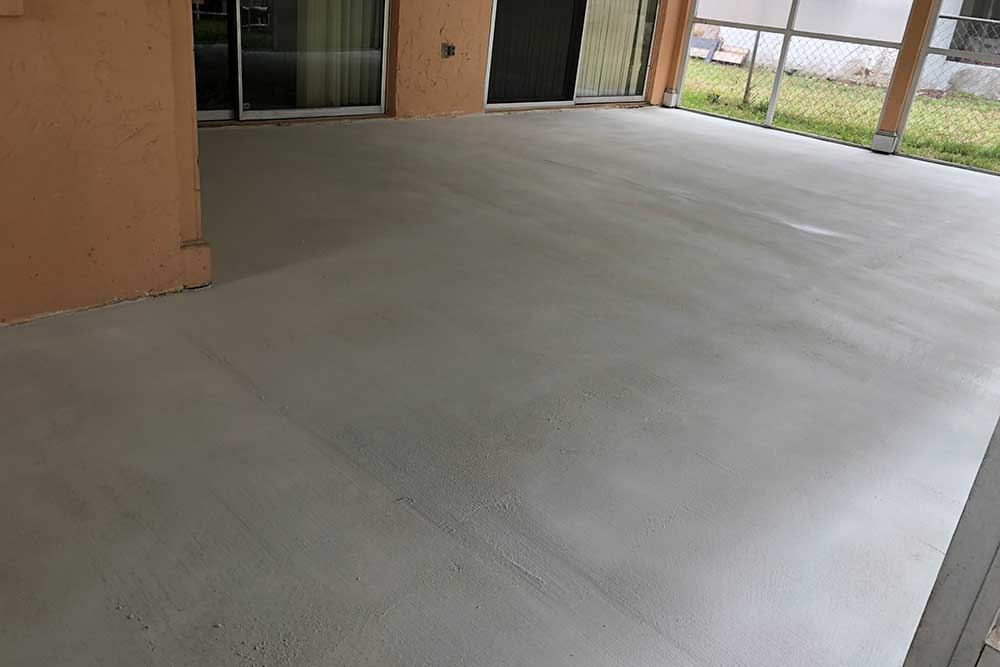 after concrete resurfacing