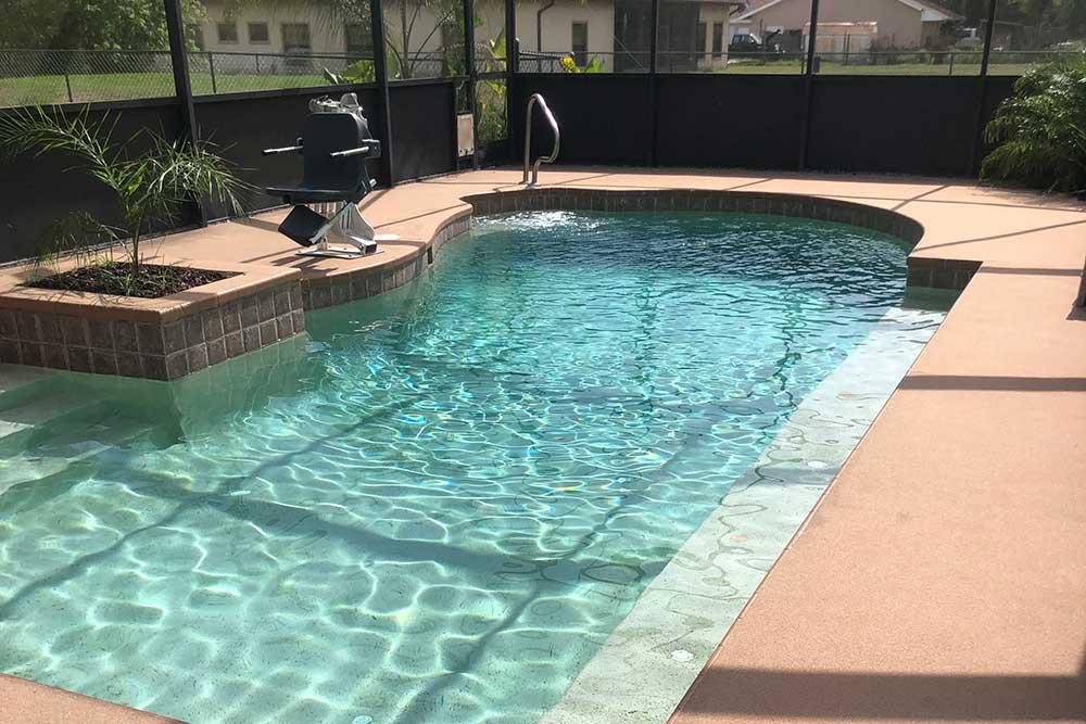 after pool deck resurfacing